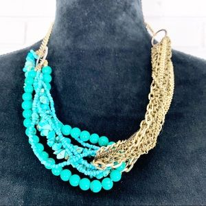 Banana Republic Women's Turquoise Twist Necklace